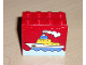 Part No: 30144pb032  Name: Brick 2 x 4 x 3 with Boat on Water Pattern (Sticker) - Set 4178