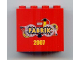 Part No: 30144pb035  Name: Brick 2 x 4 x 3 with LEGO Fabrik 2007 Pattern