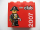 Part No: 30144pb037  Name: Brick 2 x 4 x 3 with LEGO Club 2007 and Pirate Captain Pattern