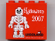 Part No: 30144pb046  Name: Brick 2 x 4 x 3 with Legoland Deutschland Halloween 2007 and Skeleton Minifigure Pattern