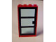 Part No: 30179c03  Name: Door, Frame 1 x 4 x 6 with Four Holes on Top and Bottom with Black Door 1 x 4 x 6 with 3 Panes with Trans-Light Blue Glass (30179 / x39c01)