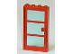 Part No: 30179c04  Name: Door, Frame 1 x 4 x 6 with Four Holes on Top and Bottom with Red Door 1 x 4 x 6 with 3 Panes with Trans-Light Blue Glass (30179 / x39c01)