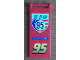 Part No: 30292pb012  Name: Flag 7 x 3 with Rod with 'WGP 95 allinol 95' Pattern (Sticker) - Set 8679