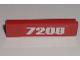 Part No: 30413pb023  Name: Panel 1 x 4 x 1 with White '7208' Pattern (Sticker) - Set 7208