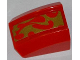 Part No: 30602pb059  Name: Slope, Curved 2 x 2 Lip, No Studs with Gold Flames Bottom Half Pattern (Sticker) - Set 70500