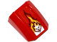 Part No: 30602pb087  Name: Slope, Curved 2 x 2 Lip, No Studs with Flame and Lion Head Pattern (Sticker) - Set 70600