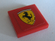 Part No: 3068bpb0104  Name: Tile 2 x 2 with Groove with Ferrari Logo Pattern (Sticker) - Set 8386