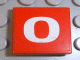 Part No: 3068bpb0111  Name: Tile 2 x 2 with Groove with Number  0 White on Red Background Pattern (Sticker) - Set 8280