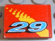 Part No: 3068bpb0115  Name: Tile 2 x 2 with Groove with Number 29 and Yellow Fade Pattern (Sticker) - Set 8829