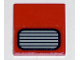 Part No: 3068bpb0340  Name: Tile 2 x 2 with Groove with Grille Gray and Black Pattern (Sticker) - Set 5533