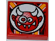 Part No: 3068bpb0654  Name: Tile 2 x 2 with Groove with Crazy Demon Pattern (Sticker) - Set 9092