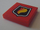 Part No: 3068bpb0673  Name: Tile 2 x 2 with Groove with Classic Fire Logo Badge on Red Background Pattern (Sticker) - Set 8154
