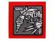 Part No: 3068bpb0941  Name: Tile 2 x 2 with Groove with Chima Mech with Drill and Claw Pattern (Sticker) - Set 70225