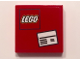 Part No: 3068bpb1005  Name: Tile 2 x 2 with Groove with White Letter Envelope and Lego Logo on Red Background Pattern (Sticker) - Set 60101