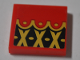 Part No: 3068bpb1263  Name: Tile 2 x 2 with Groove with Black Diamonds, Gold Crosses and Dots Pattern (Sticker) - Set 70629