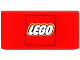 Part No: 3069bpx42  Name: Tile 1 x 2 with Groove with Lego Logo in Red Square Pattern