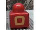 Part No: 31000pb10  Name: Primo Brick 1 x 1 with Yellow Square Outline Pattern on Two Sides