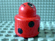 Part No: 31005pb05  Name: Primo Brick, Round Rattle 1 x 1 with Ladybug Pattern