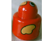 Part No: 31005pb22  Name: Primo Brick, Round Rattle 1 x 1 with Bird Face and Yellow Wings Pattern