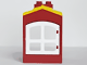 Part No: 31028pb03c01  Name: Duplo Building with Chimney, Cutout for Door / Window and Yellow Shingles Pattern with White Window (31028pb03 / 31022)