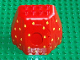 Part No: 31072c01pb01  Name: Duplo Rock Cave with Door Opening and Dewdrops Pattern, with Door