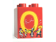 Part No: 31110pb057  Name: Duplo, Brick 2 x 2 x 2 with Letter O and Orchestra Pattern