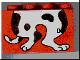 Part No: 31111pb014  Name: Duplo, Brick 2 x 4 x 2 with Dog Body Pattern, Legs Bottom