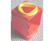 Part No: 31127cx3  Name: Primo Shape Sorter Chamber, Yellow Circle with Triangular Opening
