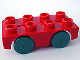 Part No: 31202c01  Name: Duplo Car Base 2 x 4 with Dark Gray Wheels