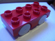 Part No: 31202c02  Name: Duplo Car Base 2 x 4 with Very Light Bluish Gray Wheels