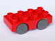 Part No: 31202c04  Name: Duplo Car Base 2 x 4 with Dark Bluish Gray Wheels
