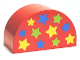 Part No: 31213pb026  Name: Duplo, Brick 2 x 4 x 2 Curved Top with 11 Stars Pattern