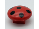 Part No: 31219pb01  Name: Duplo Plant Mushroom, 2 x 2 Base with Black Spots Pattern