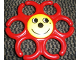 Part No: 31698  Name: Primo Teether Chain Link Hexagonal with Yellow Center and Happy Face