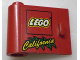 Part No: 3189pb004  Name: Door 1 x 3 x 2 Left with LEGO Logo and Yellow 'California' Pattern (Sticker) - Set 3442