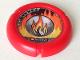 Part No: 32171pb007  Name: Throwbot Disk, Torch / Fire, 2 pips, flame logo Pattern
