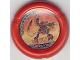Part No: 32171pb008  Name: Throwbot Disk, Torch / Fire, 3 pips, Torch throwing disk Pattern