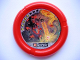 Part No: 32171pb010  Name: Throwbot Disk, Torch / Fire, 5 pips, making trench for lava Pattern