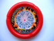 Part No: 32171pb012  Name: Throwbot Disk, Torch / Fire, 7 pips, diamond in fiery rock Pattern