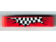 Part No: 32316pb001  Name: Technic, Liftarm 1 x 5 Thick with Black and White Checkered Flag Explosion on Red Background Pattern (Sticker) - Set 8242