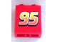 Part No: 3245bpb23  Name: Brick 1 x 2 x 2 with Inside Axle Holder with '95' Pattern (Sticker) - Set 8486