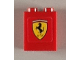 Part No: 3245bpb27  Name: Brick 1 x 2 x 2 with Inside Axle Holder with Ferrari Logo Pattern (Sticker) - Set 8654