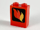 Part No: 3245bpx8  Name: Brick 1 x 2 x 2 with Inside Axle Holder with Fire Logo Pattern