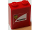 Part No: 3245cpb054  Name: Brick 1 x 2 x 2 with Inside Stud Holder with Scuderia Ferrari Logo with Black Outlined Ferrrari Logo Pattern (Sticker) - Set 75913