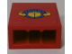 Part No: 3245cpb107  Name: Brick 1 x 2 x 2 with Inside Stud Holder with Box and Arrows and Globe on Red Background Pattern (Sticker) - Set 7939