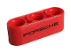 Part No: 32523pb17  Name: Technic, Liftarm 1 x 3 Thick with Black 'PORSCHE' on Red Background Pattern (Sticker) - Set 42096
