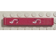 Part No: 32524pb007  Name: Technic, Liftarm 1 x 7 Thick with Excavator Arm and Double Arrows on Red Background Pattern (Sticker) - Set 8294
