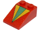 Part No: 3298pb027  Name: Slope 33 3 x 2 with Green and Yellow Triangle Pattern