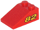 Part No: 3298pb029  Name: Slope 33 3 x 2 with Yellow Number 82 Pattern on Both Sides (Sticker) - Set 8210