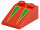 Part No: 3298px4  Name: Slope 33 3 x 2 with Green Triangles with Yellow Borders Pattern